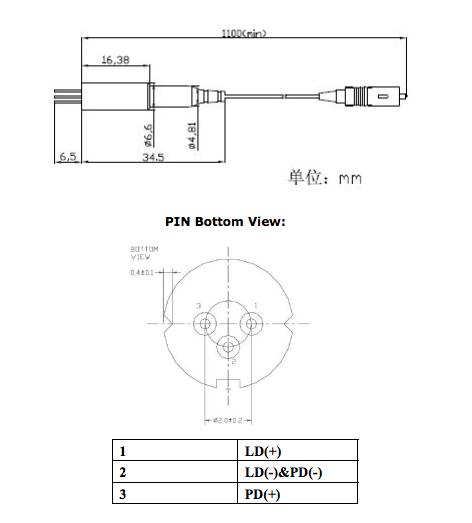 SMファイバ付き 375nmピグテールダイオードレーザー
