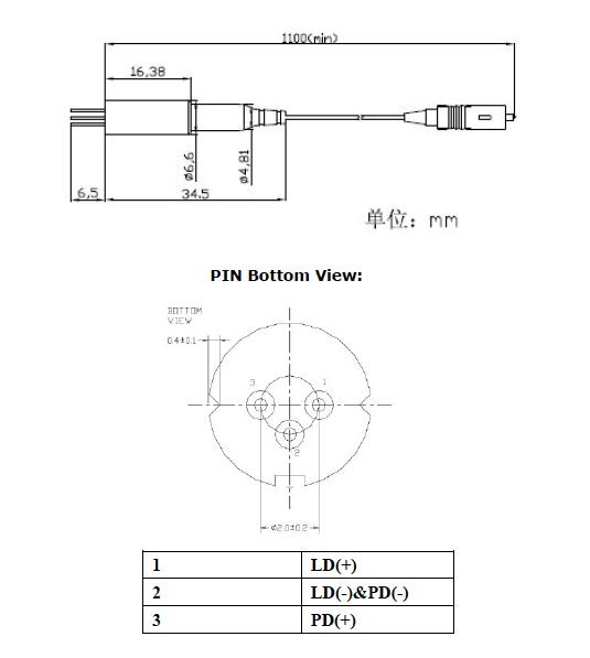 MMファイバ付き375nmファイバ結合ダイオードレーザー
